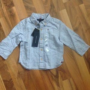BNWT Tommy Hilfiger Baby boy shirt 18 months